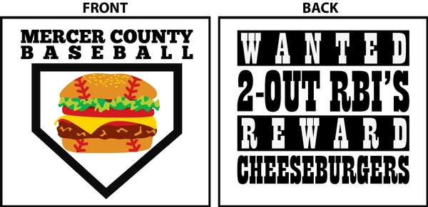 Mercer County Baseball Cheeseburger Shirts