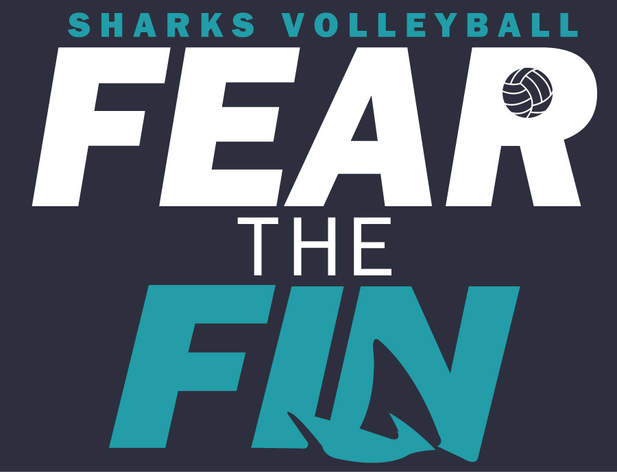 Surf City Fear The Fin Volleyball