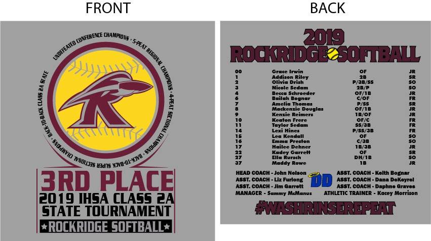 Rockridge Softball 3rd Place