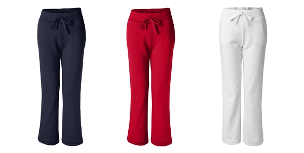 Ladies' Open Bottom Sweatpants