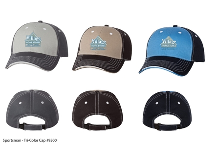 Village Home Stores Sportsman Tri-Color Cap
