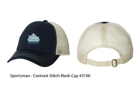 Village Home Stores Sportsman Contrast Stitch Mesh Cap
