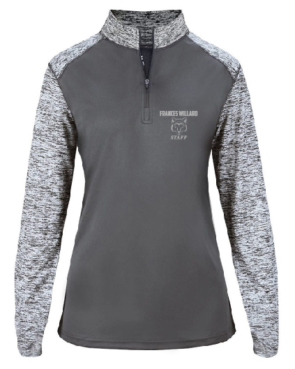 Frances Willard Ladies Blend Sport Quarter Zip