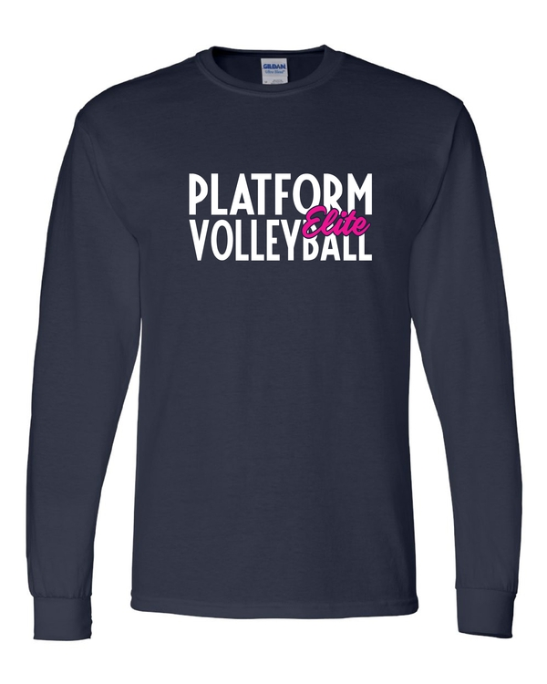 Platform Elite Volleyball Glitter Long Sleeve
