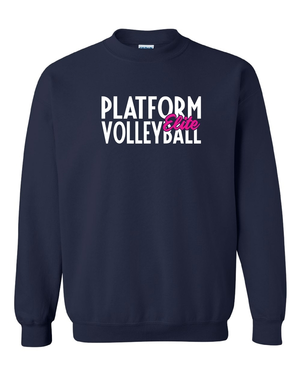 Platform Elite Volleyball Glitter Crewneck
