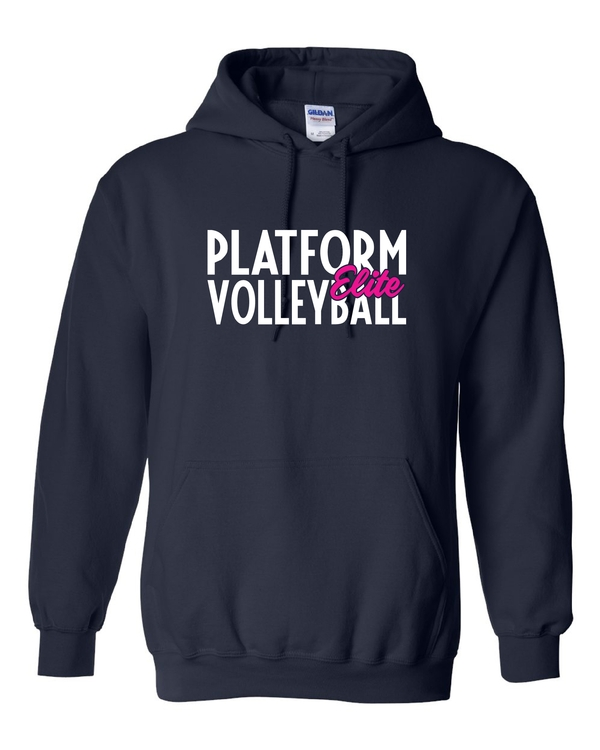 Platform Elite Volleyball Glitter Hooded Sweatshirt