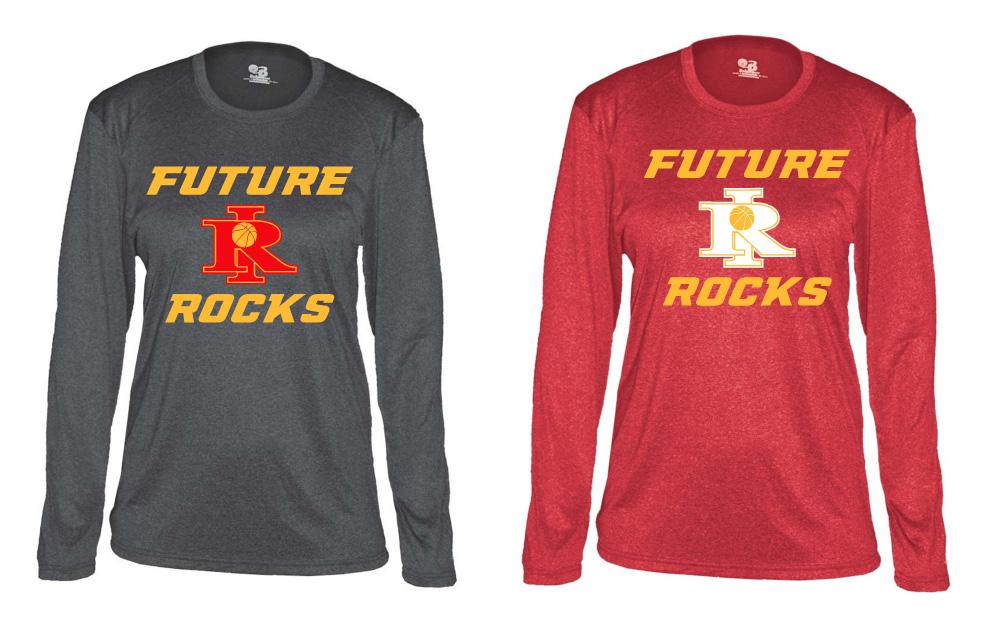 Future Rocks RI Design Heathered Ladies Poly Shirts