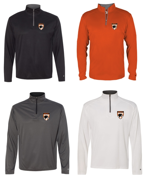 East Moline Silvis Soccer Club Badger - B-Core Quarter-Zip Pullover