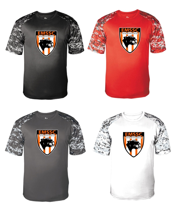East Moline Silvis Soccer Club Badger - Digital Camo Sport T-Shirt
