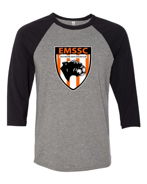 East Moline Silvis Soccer Club Unisex Three-Quarter Sleeve Baseball T-Shirt