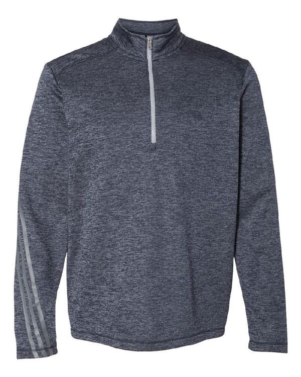 Adidas - Brushed Terry Heather Quarter-Zip