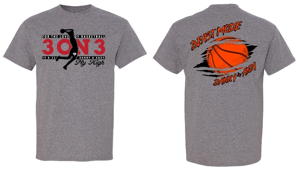 Danny & Andy 3 on 3 Shirts (TEAM ORDER)