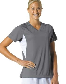 Ladies V Neck Performance T