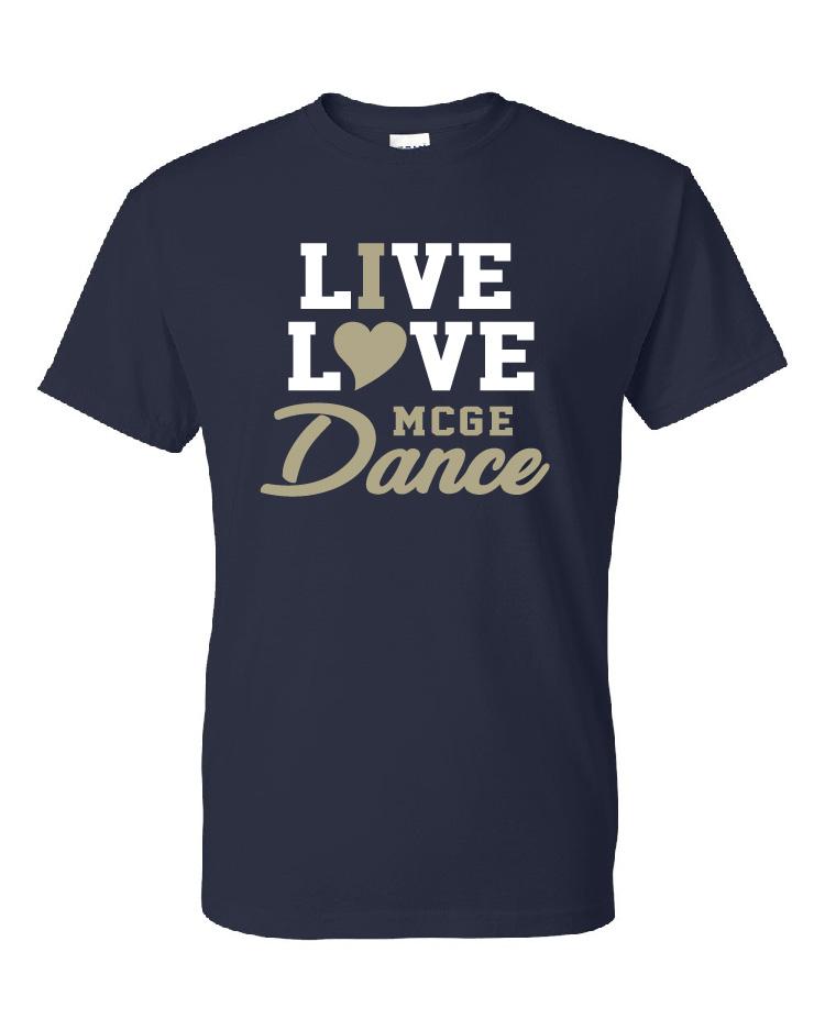 Mercer County Live Love Dance Glitter