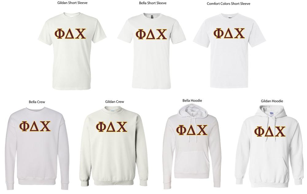 Phi Delta Chi White Shirts