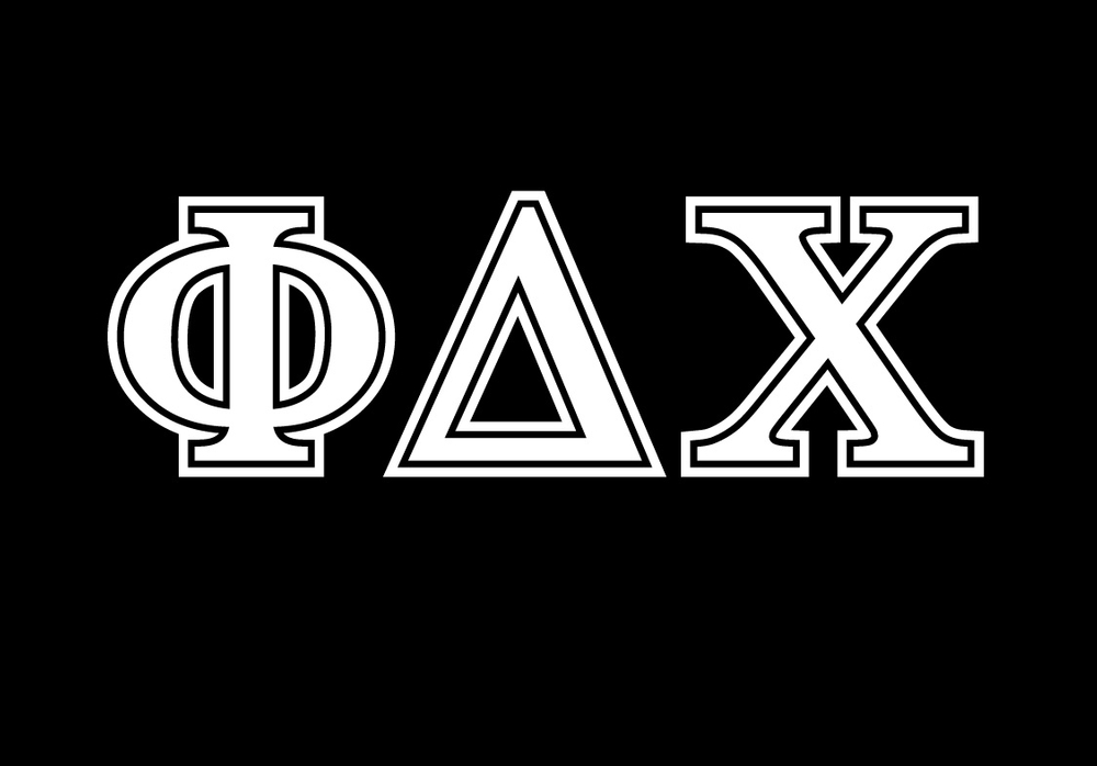 Phi Delta Chi Car Window Stickers