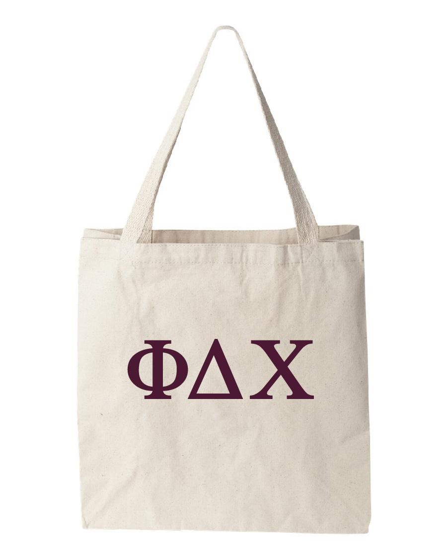 Phi Delta Chi Canvas Bags