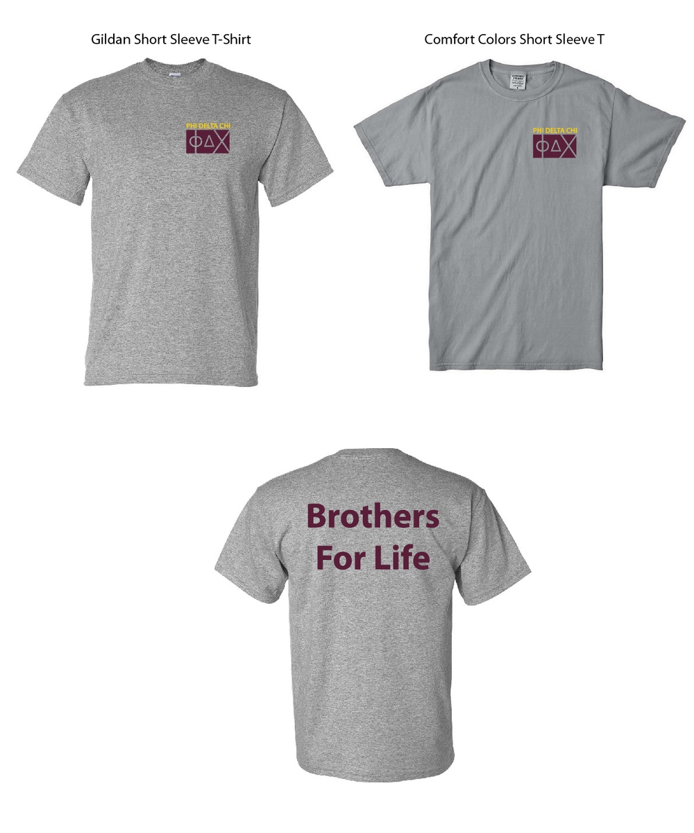 Phi Delta Chi Brothers For Life Shirts