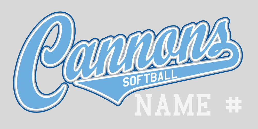 Cannon's Softball Window Decal