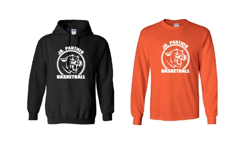 Junior Panther Basketball Long Sleeve and Hoods
