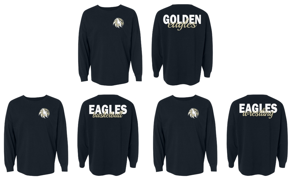 Eagles / Basketball / Wrestling Glitter Shirt