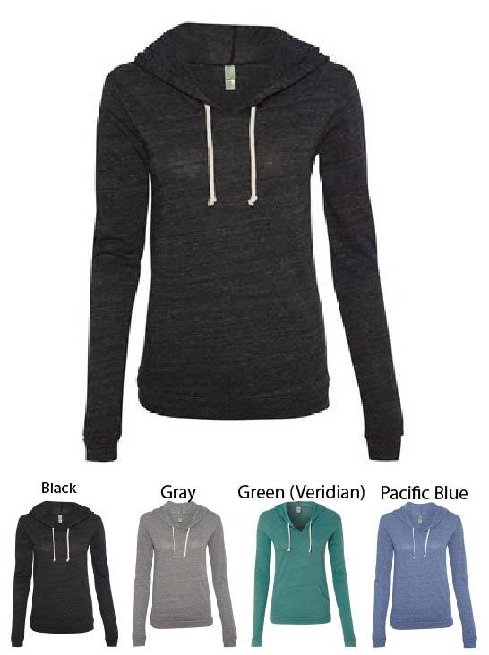 Alternative Ladies Hooded Long Sleeve T-Shirt