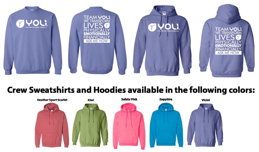 YOLI Screen Print Sweatshirts