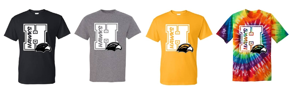 """H"" Hawks T-shirts"