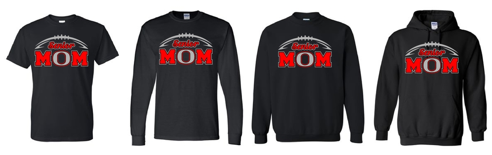Senior Football Mom Glitter Shirts