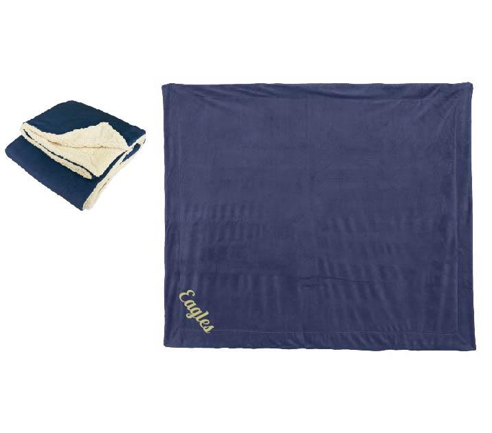 Sherpa Lined Microfleece Blanket