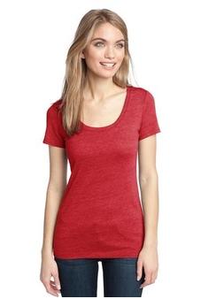 Ladies' Textured Scoopneck T-Shirt