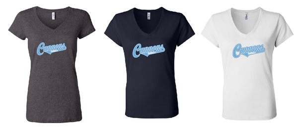 Cannons Ladies V Neck Short Sleeve