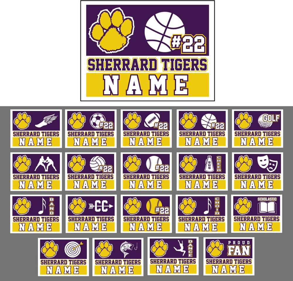 Sherrard Sports and Activities Yard Signs
