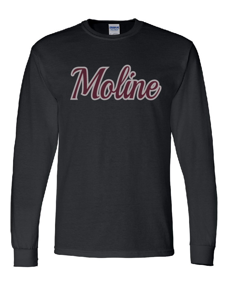 Moline Glitter Long Sleeve Design 3