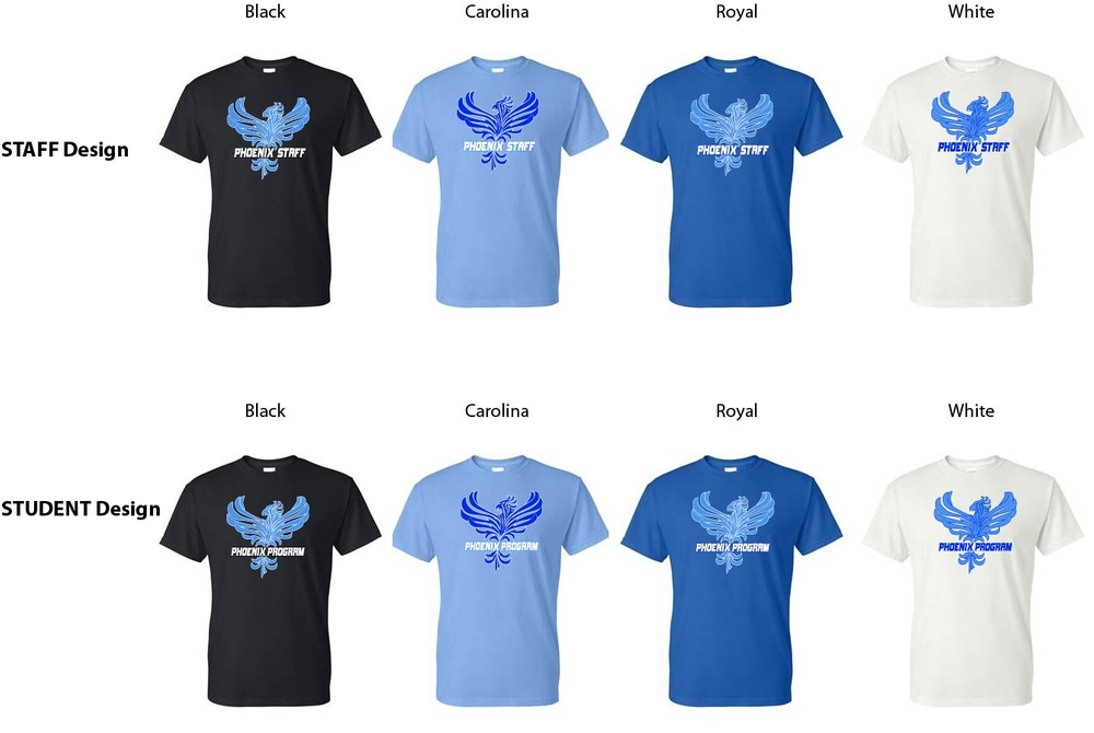 Phoenix STUDENT or STAFF Short Sleeve Shirts