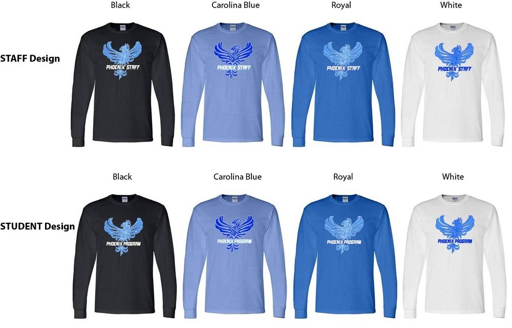 Phoenix STUDENT or STAFF Long Sleeve Shirts