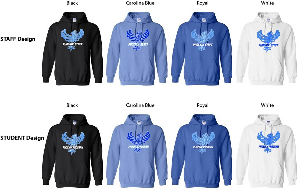 Phoenix STUDENT or STAFF Hoodies
