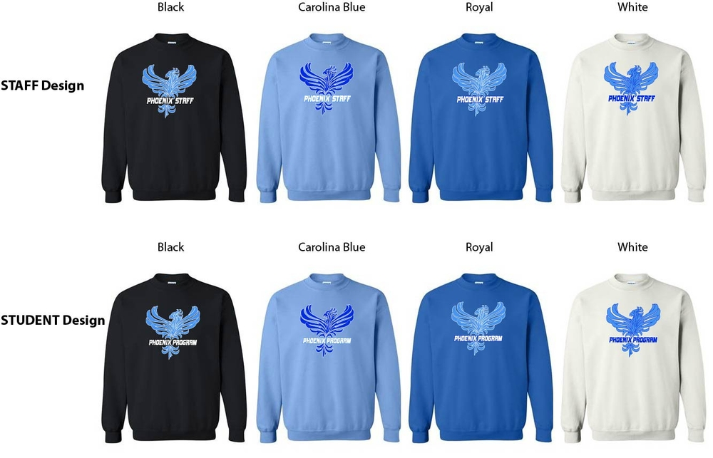 Phoenix STUDENT or STAFF Crew Sweatshirt