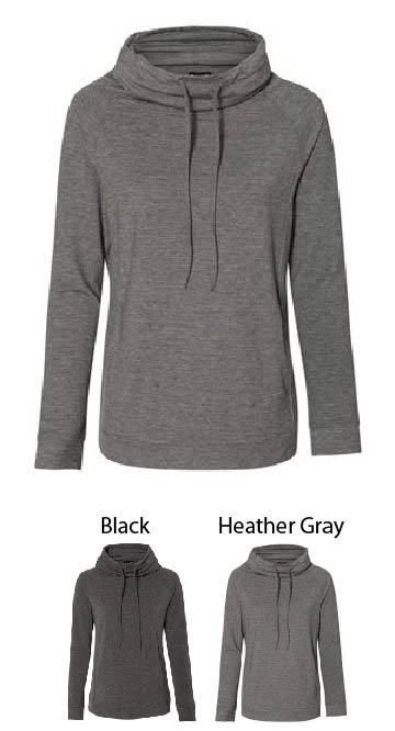 Ladies Cashmere Funnelneck Sweatshirt