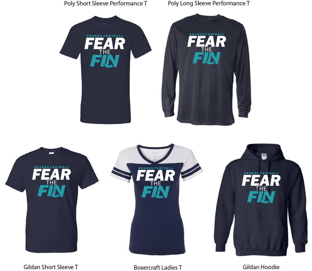 Fear The Fin Football Design