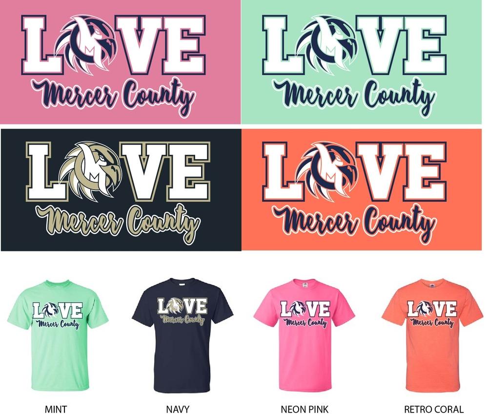 LOVE Mercer County Shirts