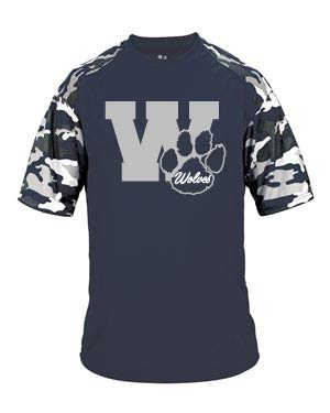 Short Sleeve Poly With Camo sleeves