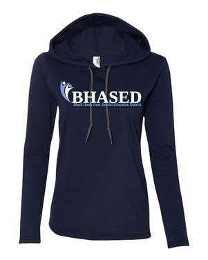 Ladies Hooded Long Sleeve T
