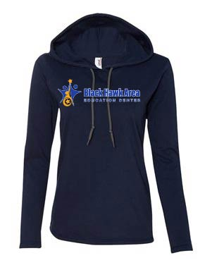 Ladies Hooded Long Sleeve T