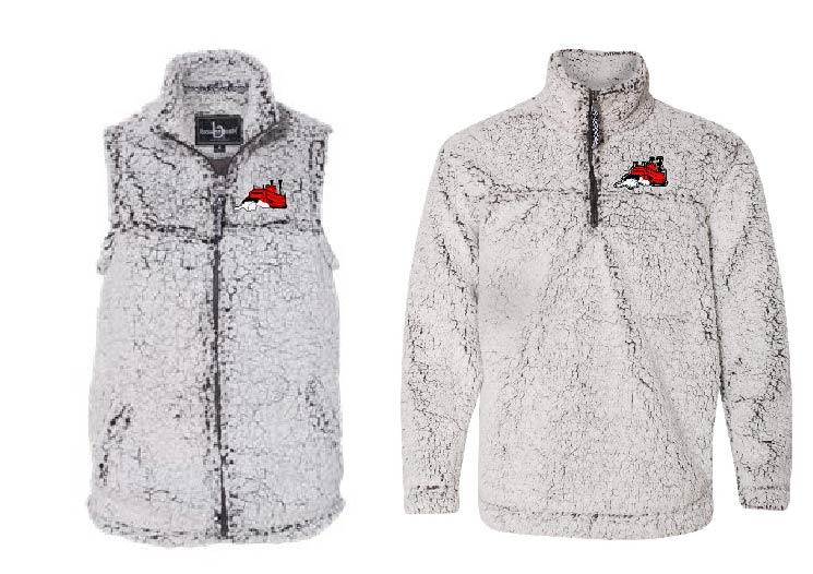 Sherpa Vest and 1/4 Zip Pullover
