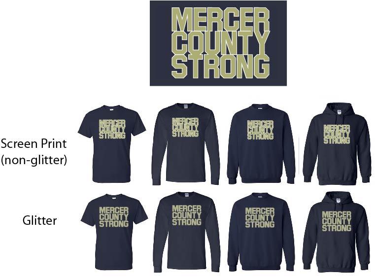 Mercer County Strong-Glitter and Non Glitter Design
