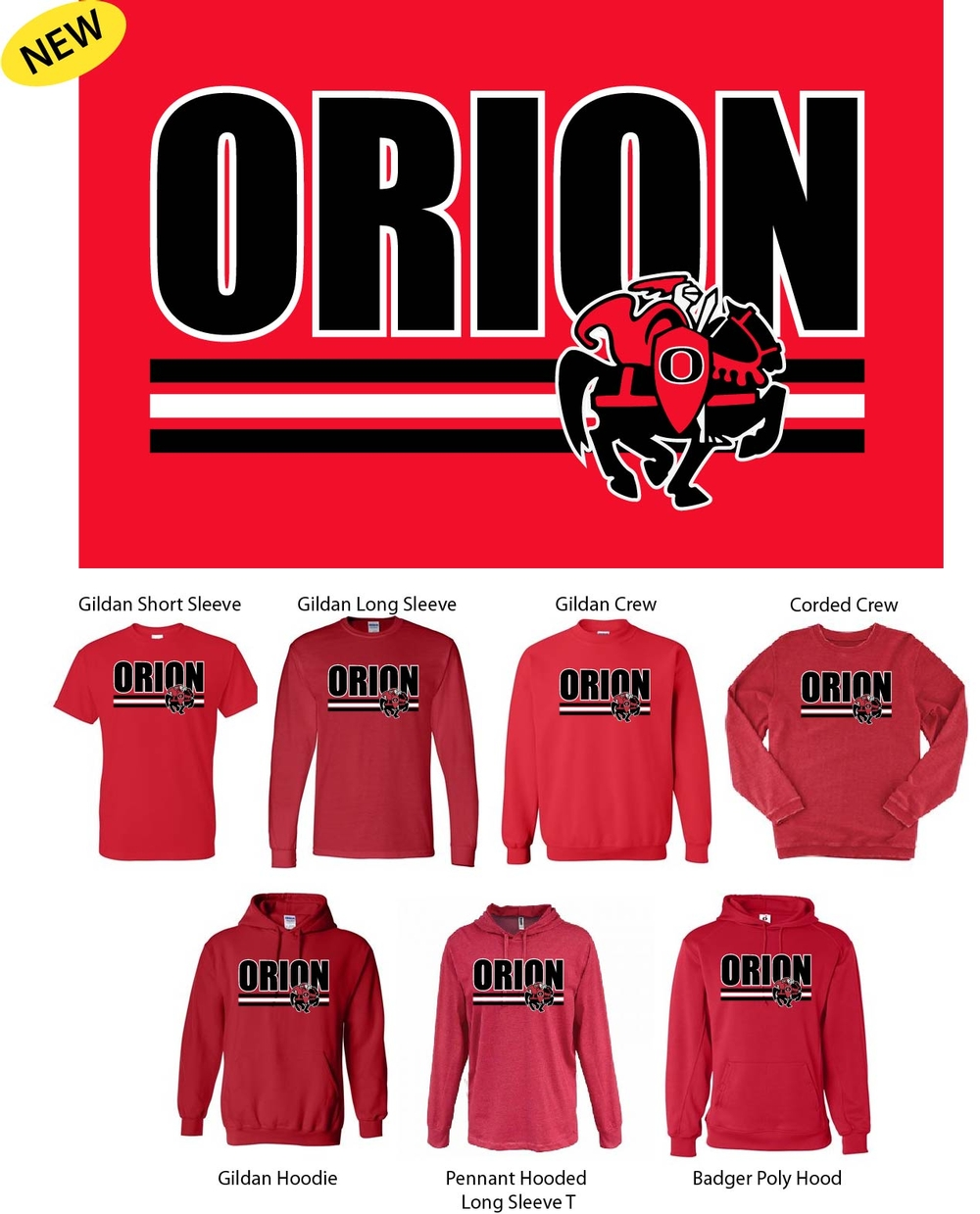 Orion Design with Charger Logo