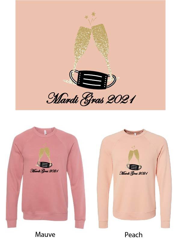 Mardi Gras Bella Crew Sweatshirt