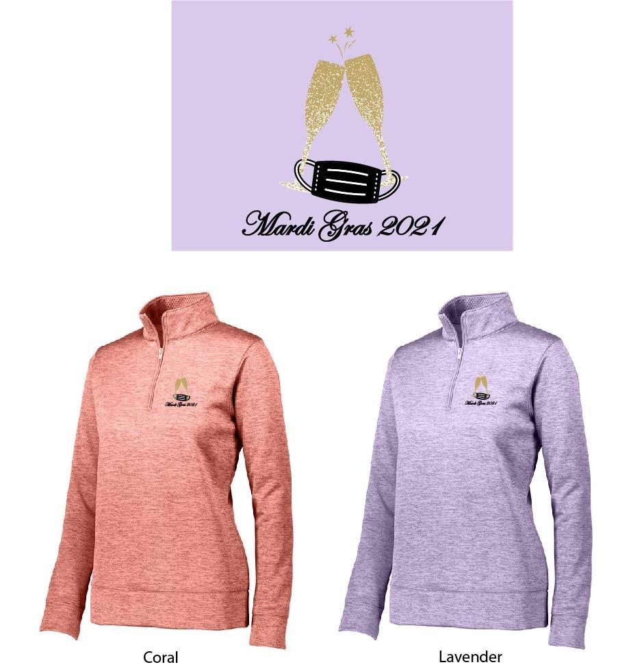 Mardi Gras Ladies 1/4 Zip Pullover
